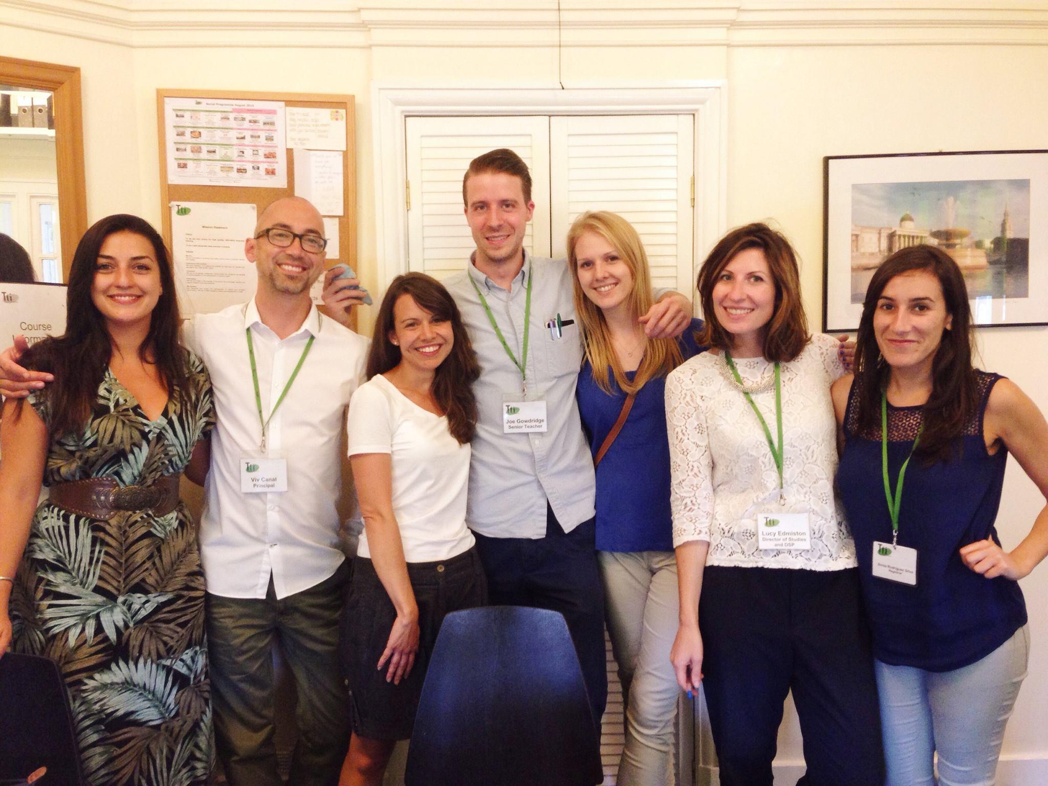 L'équipe des professeurs à Londres