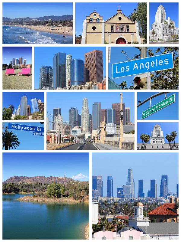 Los Angeles travel collage